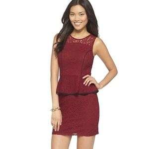 🌹3/20 NWOT Xhilaration Lace peplum mini dress XL